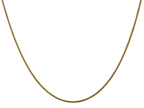 14k Yellow Gold 1.6mm Round Snake Chain 16 Inches