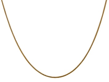 Picture of 14k Yellow Gold 1.6mm Round Snake Chain 18 Inches