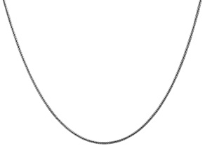 14k White Gold 1.6mm Round Snake Chain 30 Inches