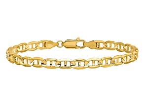 14k Yellow Gold 4.5mm Concave Anchor Chain
