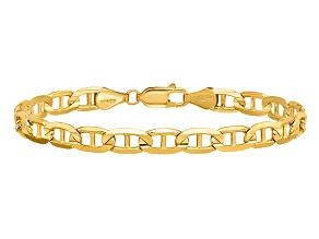 14k Yellow Gold 5.25mm Concave Anchor Chain