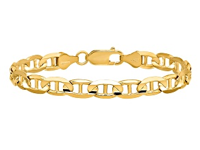 14k Yellow Gold 6.25mm Concave Anchor Chain