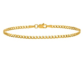 14k Yellow Gold 2.2mm Beveled Curb Chain