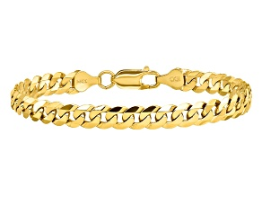 14k Yellow Gold 6.25mm Beveled Curb Chain