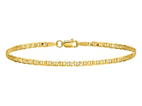 14k Yellow Gold 2.4mm Flat Anchor Chain
