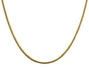 14k Yellow Gold 1.85mm Round Snake Chain 24 Inches
