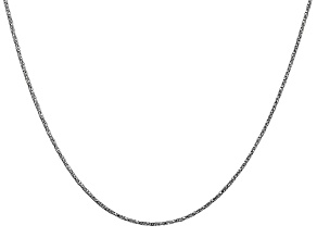 14k White Gold 0.95mm Twisted Box Chain 18 Inches