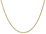 14k Yellow Gold 1.50mm Regular Rope Chain 16 Inches
