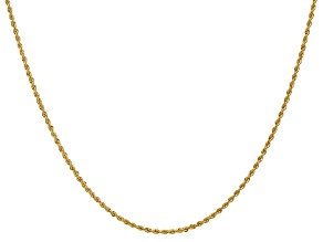 14k Yellow Gold 1.50mm Regular Rope Chain 24 Inches