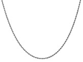 14k White Gold 1.5mm Regular Rope Chain 20 Inches