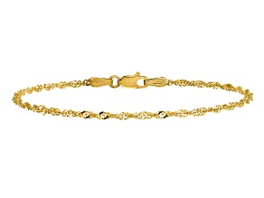 14k Yellow Gold 1.70mm Singapore Chain