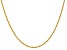14k Yellow Gold 2mm Regular Rope Chain 16 Inches