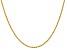 14k Yellow Gold 2mm Regular Rope Chain 18 Inches