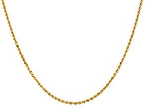 14k Yellow Gold 2mm Regular Rope Chain 26 Inches