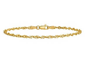 14k Yellow Gold 2mm Singapore Chain