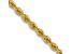 14k Yellow Gold 2.5mm Regular Rope Chain 20 Inches