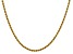 14k Yellow Gold 2.5mm Regular Rope Chain 22 Inches