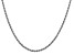 14k White Gold 2.5mm Regular Rope Chain 20 Inches