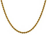 14k Yellow Gold 3mm Regular Rope Chain 18 Inches