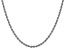 14k White Gold 3.0mm Regular Rope Chain 18 Inches