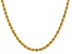 14k Yellow Gold 4mm Regular Rope Chain 18 Inches