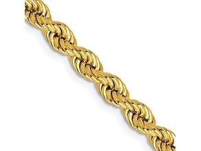 14k Yellow Gold 4mm Regular Rope Chain 24 Inches