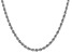 14k White Gold 4.0mm Regular Rope Chain 24 Inches