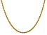 14k Yellow Gold 2.75mm Diamond Cut Rope with Lobster Clasp Chain 16 Inches