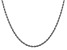 14k White Gold 2.75mm Diamond Cut Rope Chain 18 Inches