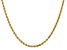 14k Yellow Gold 3.20mm Diamond Cut Rope Chain Necklace 28 Inches