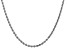 14k White Gold 3.0mm Diamond Cut Rope Chain 26 Inches