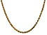 14k Yellow Gold 3.5mm Diamond Cut Rope with Lobster Clasp Chain 16 Inches