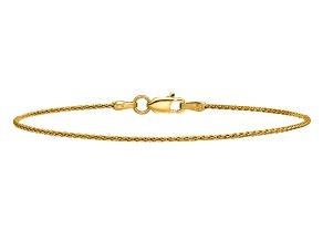 14k Yellow Gold 1.2mm Parisian Wheat Chain