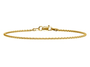 14k Yellow Gold 1.5mm Parisian Wheat Chain
