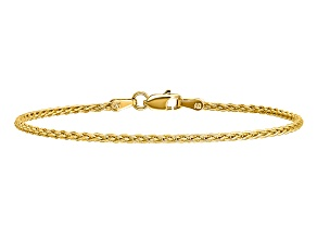 14k Yellow Gold 1.75mm Parisian Wheat Chain