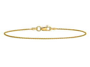 14k Yellow Gold .95mm Parisian Wheat Chain