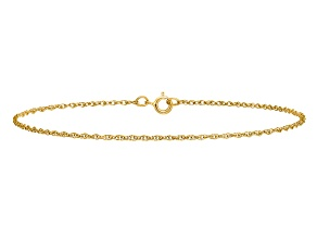 14k Yellow Gold .8mm Light-Baby Rope Chain