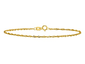 14k Yellow Gold 1.4mm Singapore Chain