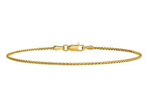 14k Yellow Gold 1.2mm Diamond-cut Spiga Chain