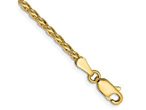 14k Yellow Gold 2.25mm Parisian Wheat Chain