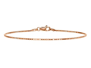 14k Rose Gold 1.10mm Box Link Chain