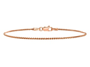 14k Rose Gold Diamond-cut 1.2mm Spiga Chain