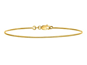 14k Yellow Gold .90mm Round Snake Chain