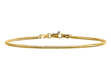 Picture of 14k Yellow Gold 1.6mm Round Snake Chain