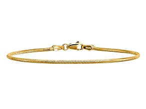 14k Yellow Gold 1.6mm Round Snake Chain
