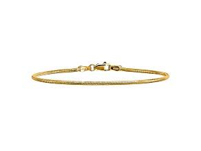 14k Yellow Gold 1.6mm Round Snake Chain