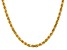 14k Yellow Gold 4.5mm Diamond Cut Rope Chain 22 Inches