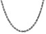 14k White Gold 4.5mm Diamond Cut Rope Chain 28 Inches