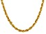14k Yellow Gold 5.5mm Diamond Cut Rope Chain 24 Inches