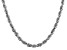 14k White Gold 5.5mm Diamond Cut Rope Chain 24 Inches